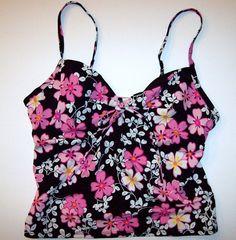 Victoria's Secret 36B Tankini Swim Top Victorias Black White Pink Underwire #VictoriasSecret #TankiniTop