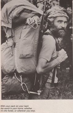 Survival camping tips Trekking, Hippie Men, The Mountains Are Calling, Camping And Hiking, Hiking Trips, Appalachian Trail, Mountain Man, Hiking Backpack, Adventure Is Out There