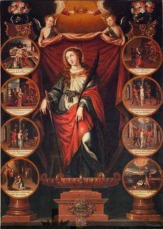 Diego Valentín Díaz  (Life of) Saint Barbara (Early 17th century)  Church of Saint Isidore, Oviedo, Spain