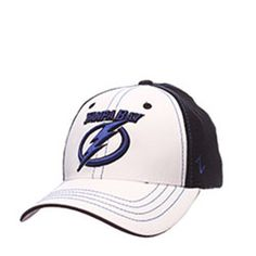 NHL Tampa Bay Lightning Ice Series Stretch Fit Hat - Black/White [M/L] - The Skybox Store