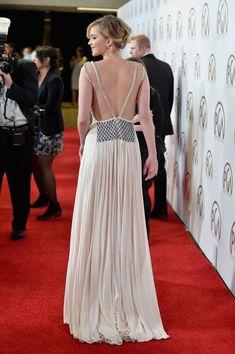 Jennifer Lawrence in custom Prada (Look at 2016 SAG Awards Prada, Evening Dresses, Prom Dresses, Formal Dresses, Long Dresses, Celebrity Dresses, Celebrity Style, Celebrity Gossip, Jennifer Lawrence Dress