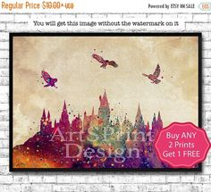 30% OFF Hogwarts Castle 7 From Harry Potter by ArtsPrint on Etsy