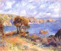 View at guernsey - Pierre-Auguste Renoir