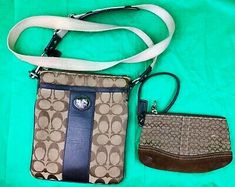 Find many great new & used options and get the best deals for Coach 43976 Sutton Signature Crossbody And Wristlet Khaki/Mahogany at the best online prices at eBay! Free shipping for many products!