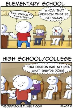 Theodd1sout :: Elementary vs High School | Tapastic Comics - image 1