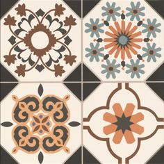 Regent Victorian tiles are a lovely choice for Victorian hall tiles or for creating Victorian flooring in kitchens and bathrooms. This versatile patterned floor tile allow for individual designs.