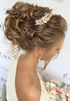 75 Chic Wedding Hair Updos for Elegant Brides - Page 4 of 5 - Deer Pearl Flowers / http://www.deerpearlflowers.com/wedding-hair-updos-for-elegant-brides/4/