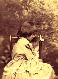 *ALICE LIDDELL ~ by Lewis Carroll...a great pioneer in children's photography or just photography in general.