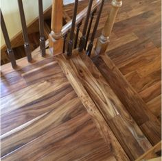 "4.75"" Hand Scraped Natural Acacia Flooring - Hardwood Bargains"