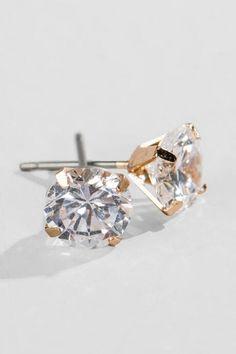 Classic Crystal Stud Earrings
