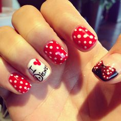 Disney nail art brochure : This would be so cute to do with the girls! AMF Nails ready for Disney world! Disney Nail Designs, Cute Nail Designs, Disney World Nails, Cute Nails, Pretty Nails, Hair And Nails, My Nails, Mickey Nails, Pretty And Cute
