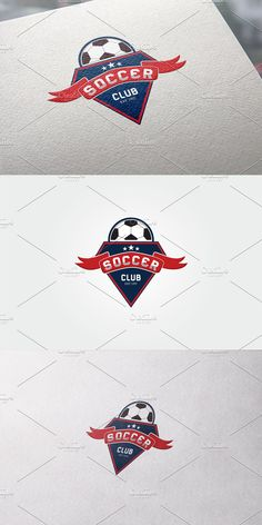 Soccer Logo, Club Design, Text Color, Vector File, Logo Templates, Logos, Illustration, Logo, Illustrations