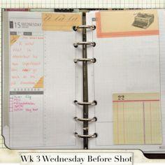 Week 3 Wednesday Before Shot #filofax #daytimer #franklin covey #diyfish #lifemapping #planner #organization #agenda