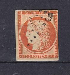 France  Catalogue (AFA) No. 5  Value Dkk. 4.500