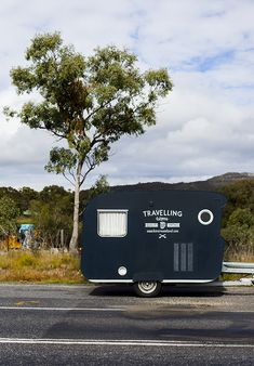 Frankie the caravan on the road Photography ©Kara Rosenlund