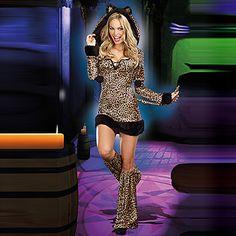 Sexy Cat Girl Leopard Print Women's Halloween Costume – EUR € 25.45