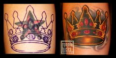 cover-up tattoo ( nautical star / crown ) by ronnie hicks, via Flickr