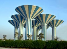 Sune Lindström - Kuwait City Water Towers https://en.wikipedia.org/wiki/Kuwait_Water_Towers