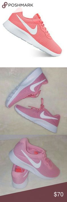Womens Nike Tanjun Elegance, Sporty, and Smooth is what you desire in a shoe. Here it is all packaged into one. The Women's Nike Tanjun in the pink color way is a bonafide hit. Sip your homemade pink lemonade with shoes to match. Ever walked on pink clouds? Well this is your chance to finally aboard cloud 9 while looking pretty in pink. The Nike Tanjun: Simplicity at its finest. Nike Shoes Sneakers