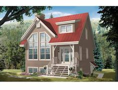 Tiny Footprint Holds More Inside (HWBDO69269) | Country House Plan from BuilderHousePlans.com