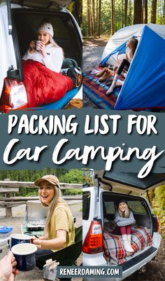 Car camping is such an amazing way to experience nature without having to work too hard for it. But when starting out car camping it can be a little confusing what to pack. In this guide, I am sharing a thorough car camping essentials list, including a printable checklist to make packing a breeze! | Camping checklist | Camping packing checklist | Car camping essentials | Road trip essentials | #camping Camping Essentials List, Camping Packing, Travel Essentials, Camping Tips, Auto Camping, Printable Packing List, Packing Checklist, Packing Lists, Ways To Travel
