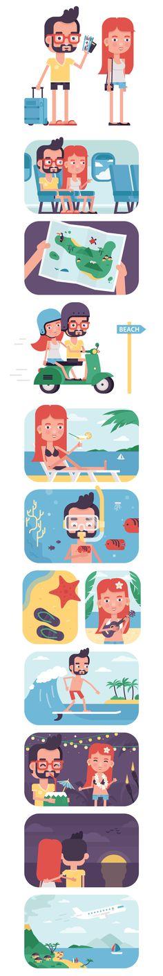 Island vacation on Behance