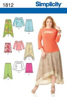 Simplicity plus size sewing patterns 2013.  I obviously like the horizontal peek-a-boo look.