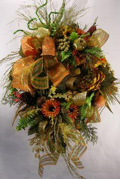 Autumn Glitz Fall Wreath