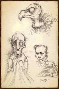 Sketchbook of Poe's Tell-Tale Heart by David Garcia Forés