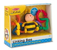 Best Toys for Children 2014 www.pipedreamtoys.com Linking Bee Baby Toy