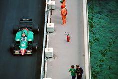 "itsawheelthing: "" Eddie Cheever, Benetton Alfa Romeo 185T, 1985 Monaco Grand Prix """