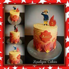 Fireman Sam layer cake
