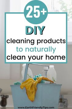 You don't have to deal with toxic chemicals to clean your home. Instead, learn how to make these DIY cleaning products. When you make the switch to these best DIY cleaning products, you'll enjoy a natural clean that's safer for your health, better for the environment, and easier on your budget. #ecofriendly #natural #cleaning #DIY #homemade
