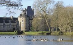 Chateau de Canisy is one of Frances best-kept secrets, a stately castle in the rolling hills of the Manche Normandy owned by the same noble family for a millennium