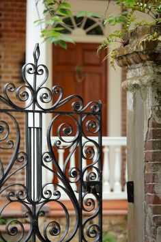 Gate to a Colonial House in the Historic District, Charleston, SC