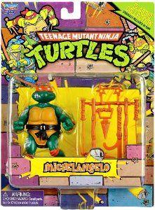 Amazon.com: Teenage Mutant Ninja Turtles Retro Collection 4 Inch Action Figure Michelangelo: Toys & Games