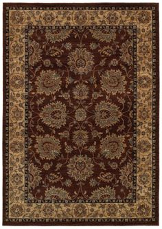 Rizzy Home BV3978 Bellevue Power Loomed Polypropylene Rug Brown
