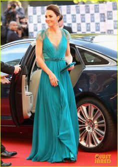Kate Middleton.  Jenny Packham gown.  Jimmy Choo heels