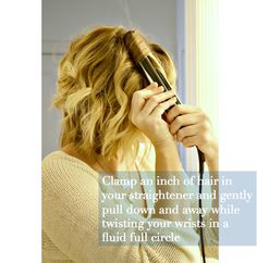 #HowTo Curl Your Hair with a Straightener