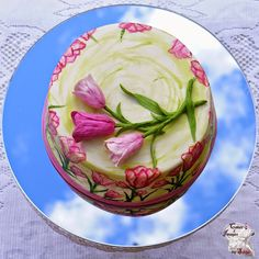 I got invited to a Morning Tea for all the mothers at my Kid's school and decided to make a quick cake to take along. Tulip Cake, Quick Cake, Cake Creations, Tulips, Watermelon, Mothers, Cakes, Fruit, Food