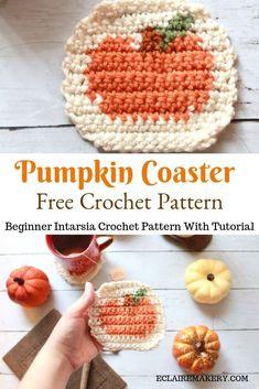 Crochet Pumpkin Pattern, Crochet Coaster Pattern, Tapestry Crochet Patterns, Doily Patterns, Dress Patterns, Easy Crochet, Free Crochet, Autumn Crochet, Doilies Crochet
