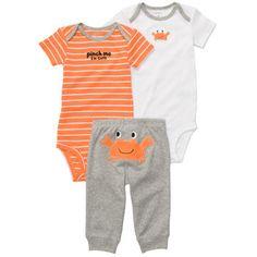 3-Piece Bodysuit Pant Set Трикотажный наборчик из хлопка - два боди и штанишки.