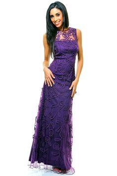 Bridesmaids purple.