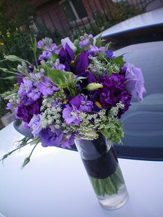 purple iris bouquet -