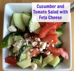 Cucumber and Tomato Salad with Feta Cheese @NEPA MOM : Featured post on Turn It Up Tuesdays.