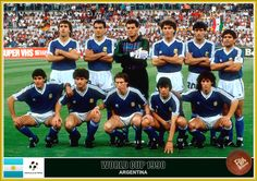 Argentina team group at the 1990 World Cup Finals. Argentina Football Team, Argentina Team, Fifa Football, National Football Teams, World Cup Teams, Fifa World Cup, Football Team Pictures, Football Memorabilia, Fan Picture