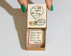 Süße Liebe Karte / Vorschlag Card / Matchbox Geschenkbox /