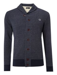 Fred Perry Shawl cardigan Navy - House of Fraser
