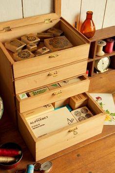 標本箱→ミニ引き出し - おひさまのあたる部屋