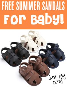Summer Fashion Trends - Summer Sandals for Baby!  Just pick your favorite color to match baby's outfits!  You can even grab extra pairs to stash away as sweet baby shower gifts!  Have you gotten yours yet?? Baby Sandals, Summer Sandals, Baby Shoes, Summer Fashion Trends, Summer Fashion Outfits, Spring Fashion, Baby Shower Gifts, Baby Gifts, Baby Freebies